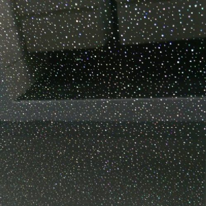 Custom Cut Black Sparkle Wet Wall Panels